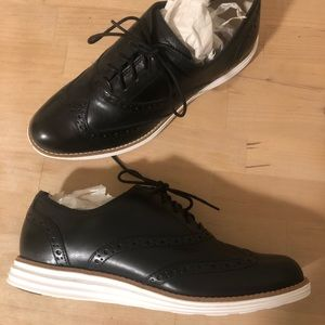 Never before worn leather Cole Haan Oxfords